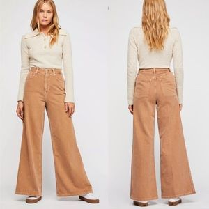 NWT Free People Super High Rise Wide Leg Jean